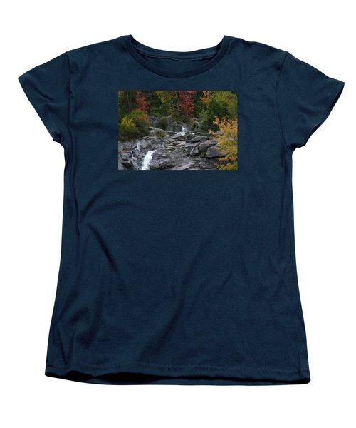 Early Fall Waterfall Women's T-Shirt (Standard Cut) by Denyse Duhaime
