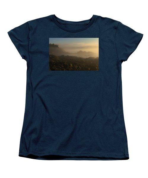 Early Morning Fog At Quoddy Women's T-Shirt (Standard Cut) by Marty Saccone