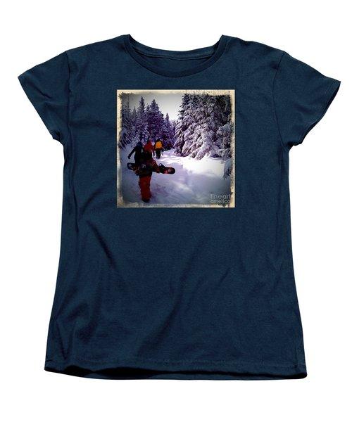 Women's T-Shirt (Standard Cut) featuring the photograph Earning Turns by James Aiken