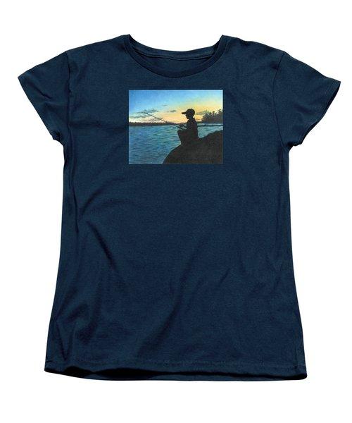 East Pond Women's T-Shirt (Standard Cut) by Troy Levesque