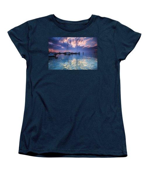Eastport Sunrise Women's T-Shirt (Standard Cut) by Jennifer Casey