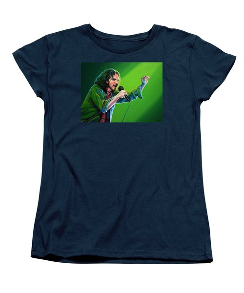 Eddie Vedder Of Pearl Jam Women's T-Shirt (Standard Cut) by Paul Meijering