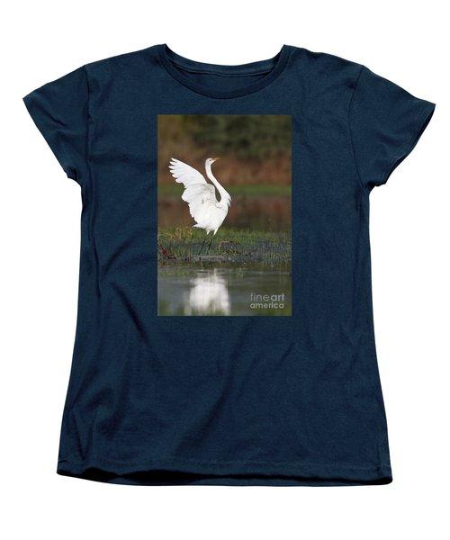 Egret Dancing Women's T-Shirt (Standard Cut)