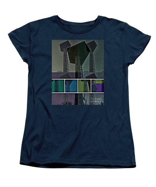 Women's T-Shirt (Standard Cut) featuring the photograph Elastic Concrete Part One by Sir Josef - Social Critic - ART