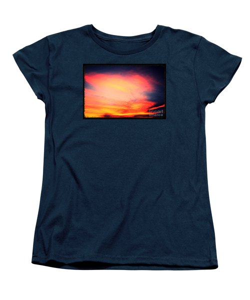 Women's T-Shirt (Standard Cut) featuring the photograph Electric Angel Playing A Harp In The Sky  by Kimberlee Baxter