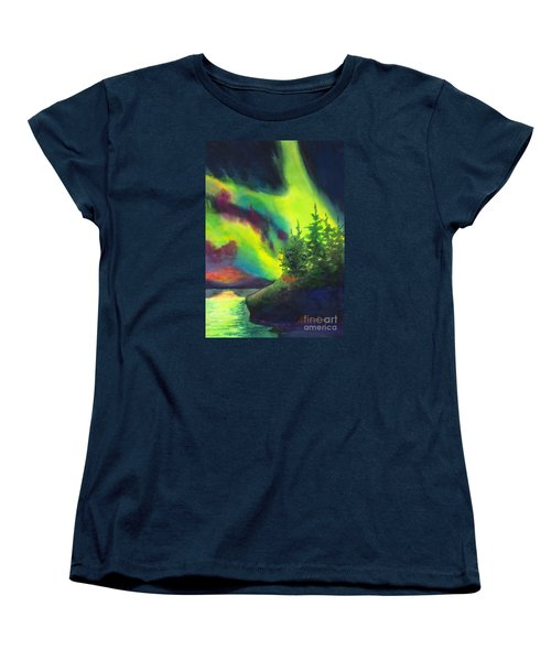 Electric Green In The Sky 2 Women's T-Shirt (Standard Cut) by Kathy Braud