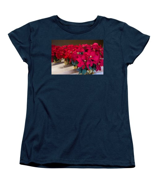 Elegant Poinsettias Women's T-Shirt (Standard Cut) by Patricia Babbitt