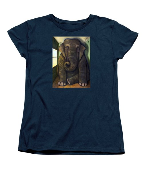 Elephant In The Room Women's T-Shirt (Standard Cut) by Leah Saulnier The Painting Maniac
