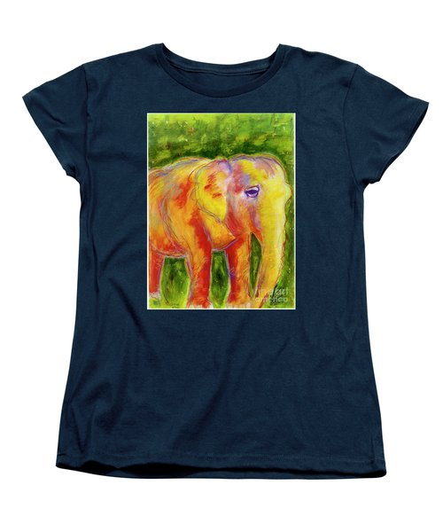 Women's T-Shirt (Standard Cut) featuring the painting Elle by Beth Saffer