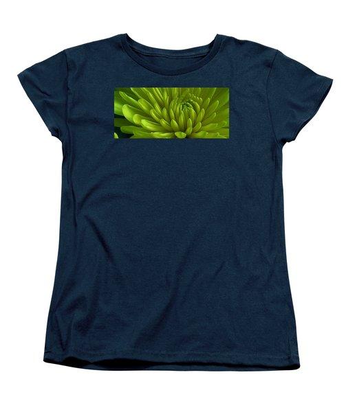 Emerald Dahlia Women's T-Shirt (Standard Cut) by Bruce Bley