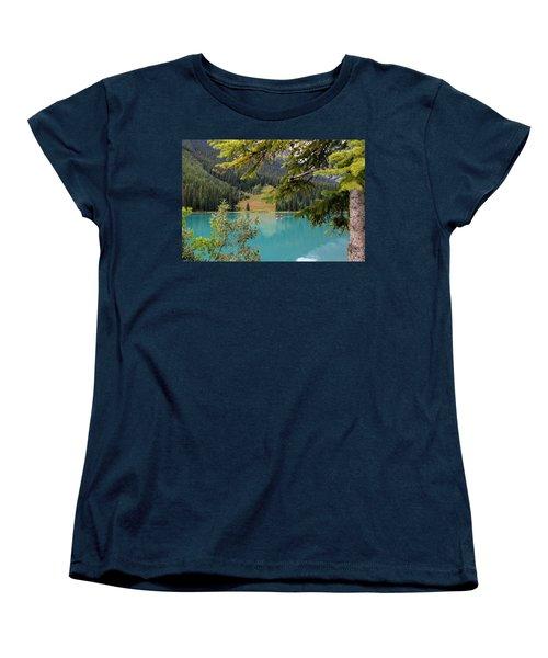 Emerald Lake British Columbia Women's T-Shirt (Standard Cut) by Lynn Bolt