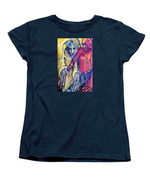 Women's T-Shirt (Standard Cut) featuring the painting Emergence Of God The Father by Kenneth Agnello