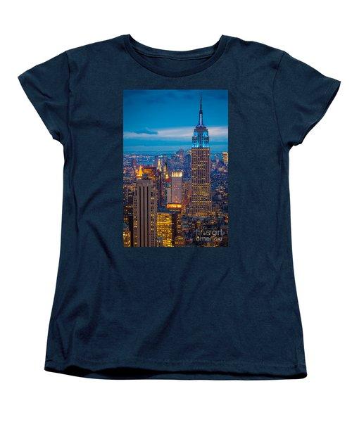 Empire State Blue Night Women's T-Shirt (Standard Cut)