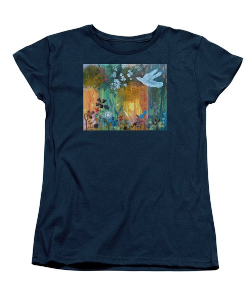 Women's T-Shirt (Standard Cut) featuring the painting Encantador by Robin Maria Pedrero