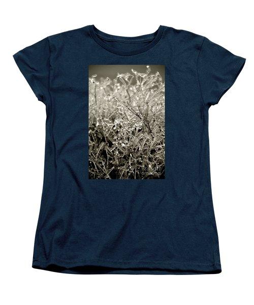 Encased In Ice IIi Women's T-Shirt (Standard Cut) by Bonnie Myszka