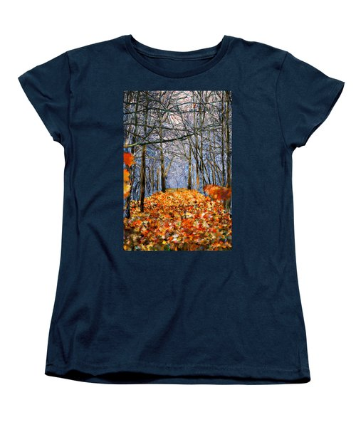 End Of Autumn Women's T-Shirt (Standard Cut) by Bruce Nutting