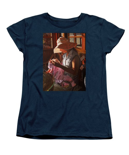 Women's T-Shirt (Standard Cut) featuring the painting Enfamil At Ha Long Bay Vietnam by Thu Nguyen