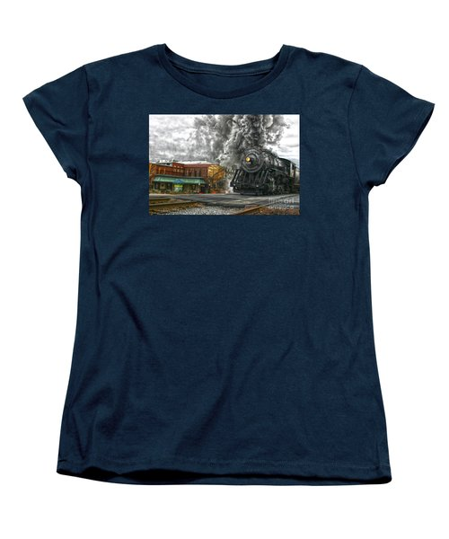 Engine 734 On The Western Maryland Scenic Railroad  Women's T-Shirt (Standard Cut) by Jeannette Hunt