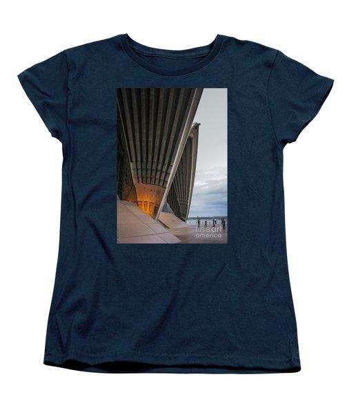 Entrance To Opera House In Sydney Women's T-Shirt (Standard Cut) by Jola Martysz