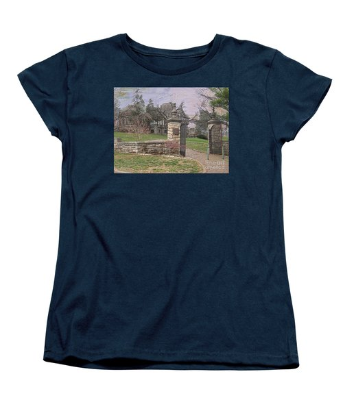 Epperson House House On The Hill Women's T-Shirt (Standard Cut) by Liane Wright