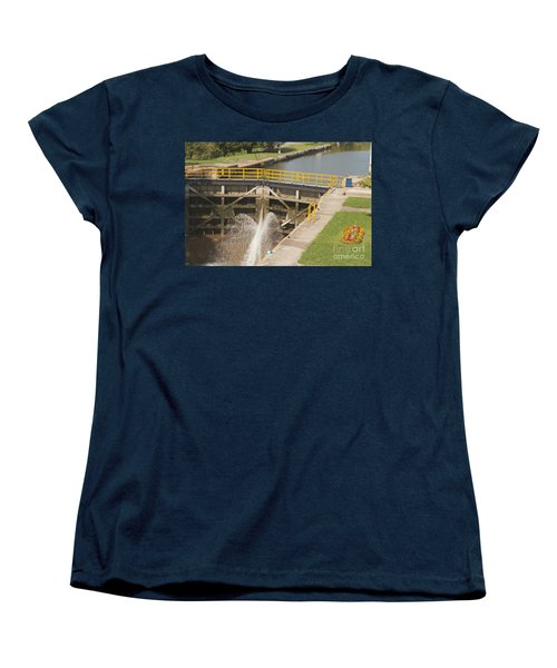 Women's T-Shirt (Standard Cut) featuring the photograph Erie Canal Lock by William Norton