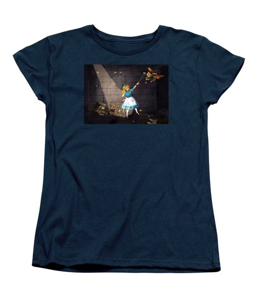 Women's T-Shirt (Standard Cut) featuring the painting Escape by Reynold Jay