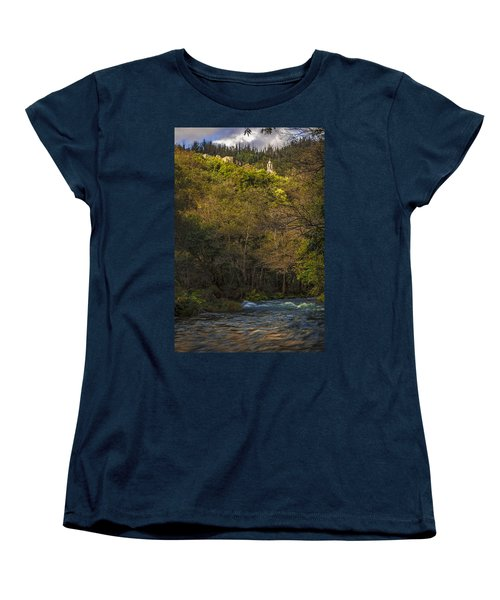 Women's T-Shirt (Standard Cut) featuring the photograph Eume River Galicia Spain by Pablo Avanzini