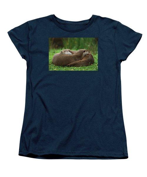 European River Otter Lutra Lutra Women's T-Shirt (Standard Cut) by Ingo Arndt