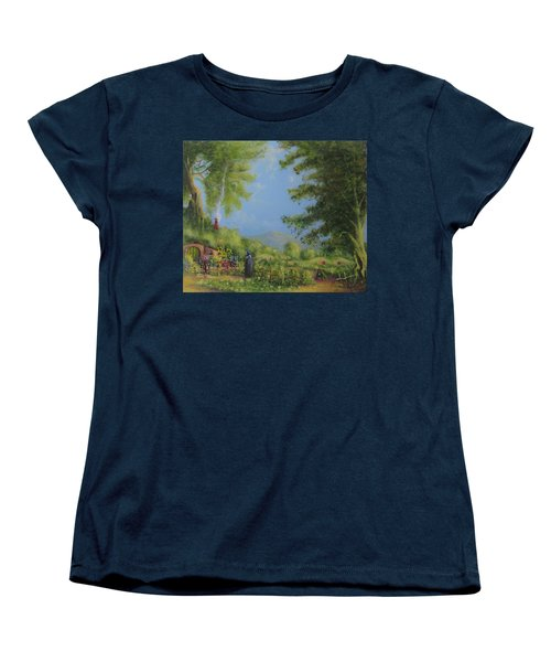 Evening In The Shire. Women's T-Shirt (Standard Cut) by Joe  Gilronan