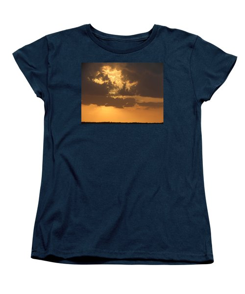 Women's T-Shirt (Standard Cut) featuring the photograph Evening Over Lake George by Fortunate Findings Shirley Dickerson