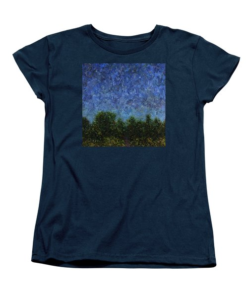 Women's T-Shirt (Standard Cut) featuring the painting Evening Star - Square by James W Johnson