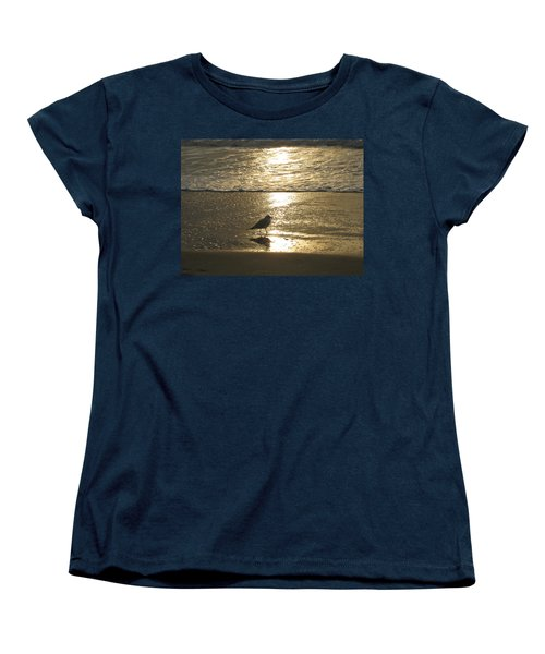 Evening Stroll For One Women's T-Shirt (Standard Cut) by Judith Morris