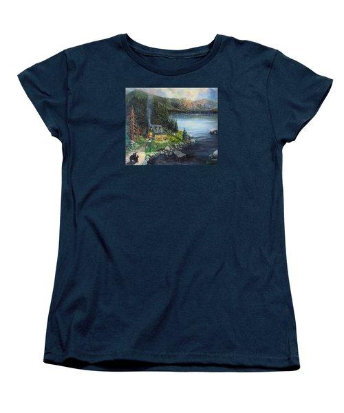 Evening Visitors Women's T-Shirt (Standard Cut) by Donna Tucker