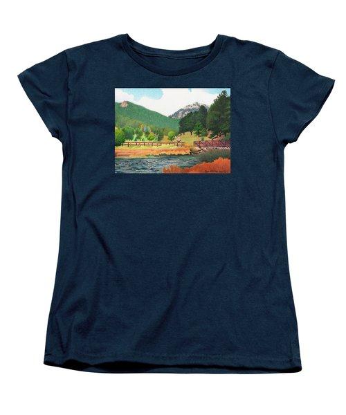 Evergreen Lake Spring Women's T-Shirt (Standard Cut) by Dan Miller
