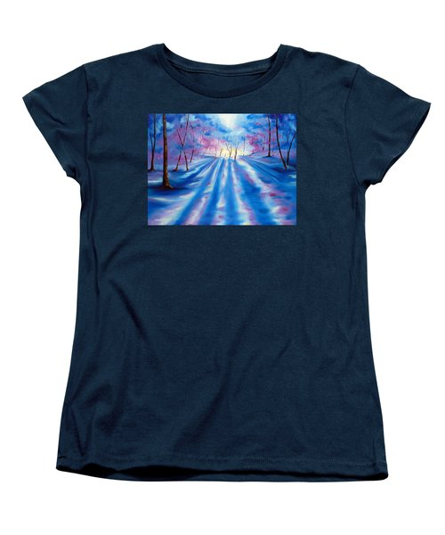 Women's T-Shirt (Standard Cut) featuring the painting Evident by Meaghan Troup