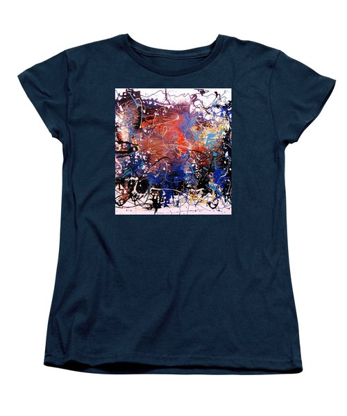 Women's T-Shirt (Standard Cut) featuring the painting Exotic Zone by Roberto Prusso