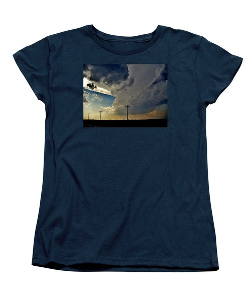 Women's T-Shirt (Standard Cut) featuring the photograph Explosive Texas Supercell by Ed Sweeney