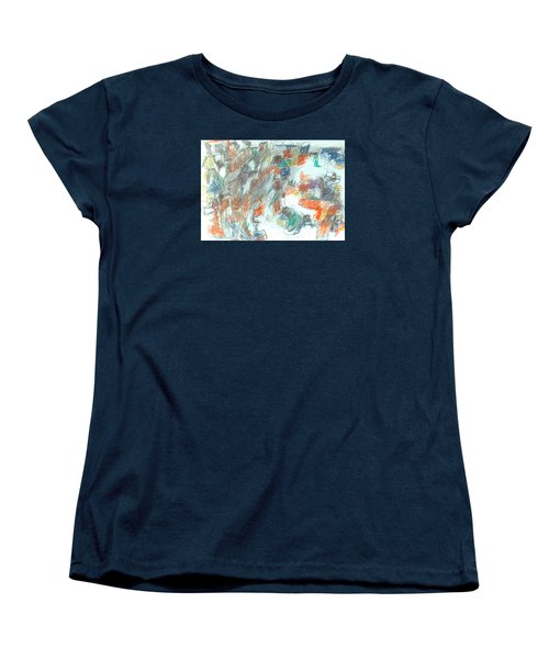 Women's T-Shirt (Standard Cut) featuring the mixed media Express Graphic by Esther Newman-Cohen