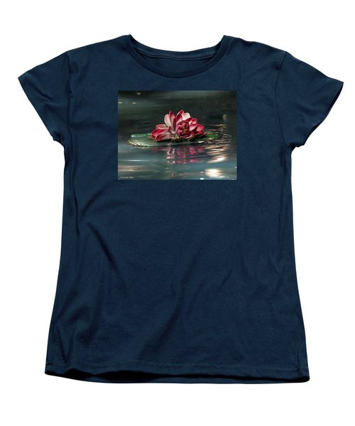 Women's T-Shirt (Standard Cut) featuring the photograph Exquisite Water Flower  by Lucinda Walter