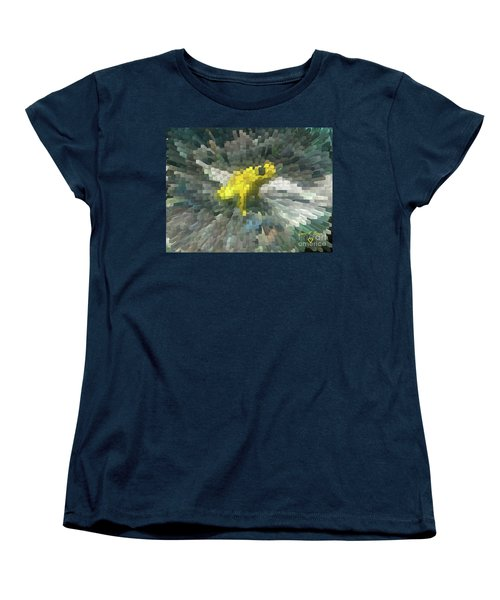 Women's T-Shirt (Standard Cut) featuring the photograph Extrude Yellow Frog by Donna Brown