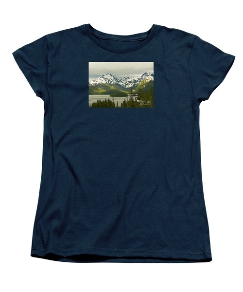 Women's T-Shirt (Standard Cut) featuring the photograph Eyak Lake Landscape by Nick  Boren
