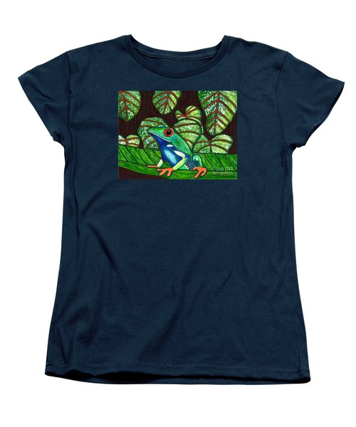 Women's T-Shirt (Standard Cut) featuring the painting Eye On You by Laura Forde