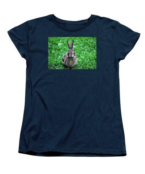 Women's T-Shirt (Standard Cut) featuring the photograph Eyes Wide Open by Trina  Ansel