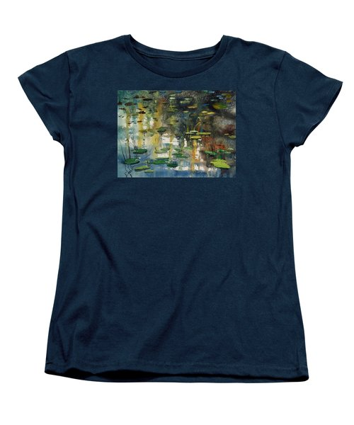 Faces In The Pond Women's T-Shirt (Standard Cut) by Ryan Radke