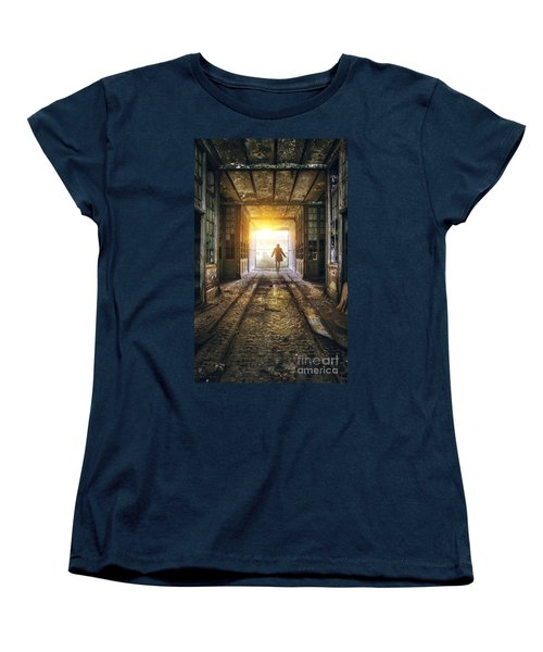 Factory Chase Women's T-Shirt (Standard Cut) by Carlos Caetano