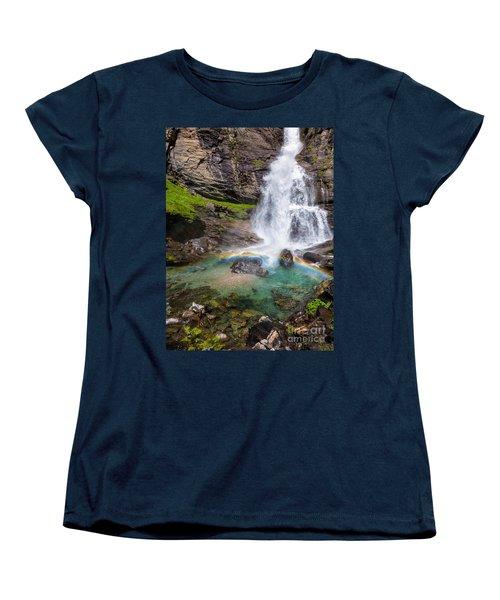 Fall And Rainbow Women's T-Shirt (Standard Cut) by Silvia Ganora