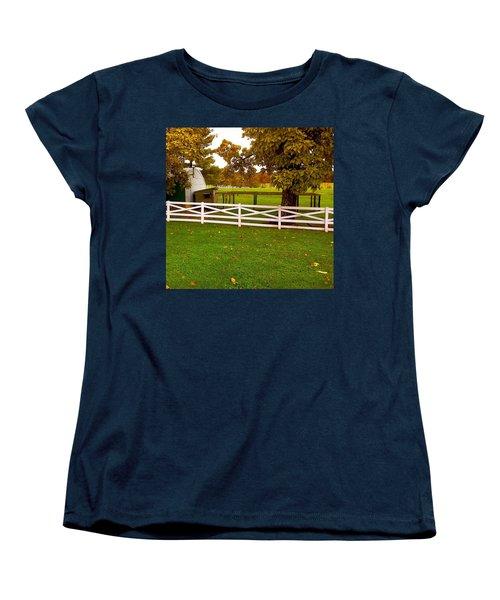 Fall At Eisenhower Farm Women's T-Shirt (Standard Cut) by Amazing Photographs AKA Christian Wilson