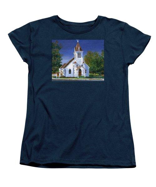 Fall Church Women's T-Shirt (Standard Cut) by Lynne Reichhart