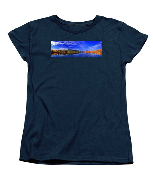 Women's T-Shirt (Standard Cut) featuring the photograph Fall Color Oxbow Bend Grand Tetons National Park Wyoming by Dave Welling