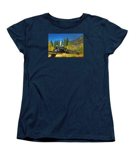 Fall Colored Bridge Women's T-Shirt (Standard Cut) by Ken Smith